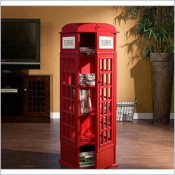 Holly & Martin Jasper Phone Booth Cabinet in Painted Red