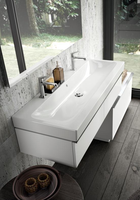 Pozzi ginori collezione metrica mobile lavabo doppio - Pozzi ginori idea ...