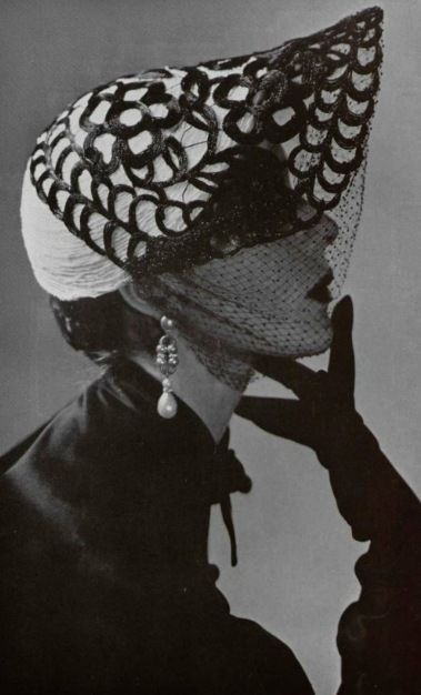 Mystery Lady, 1950.  Hat by Albouy.: