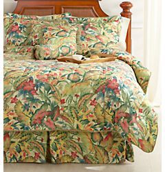 Palm Island Home Tropical 7 pc King Bed Set Chic Home Decor