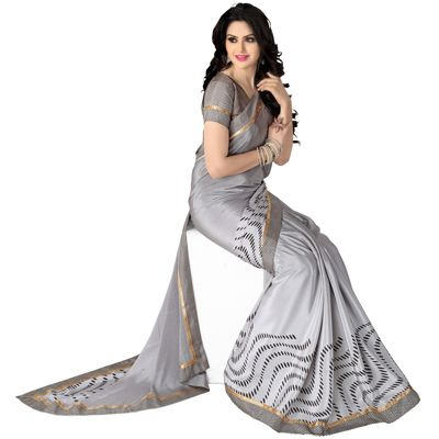 Buy Go Desi Grey Chiffon Saree by Go Desi, on Paytm, Price: Rs.779?utm_medium=pintrest
