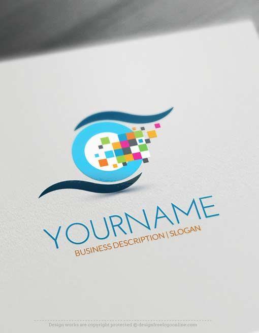 Free Logo Maker Digital Eye Logo Design Eye Logo Design Online Logo Creator Free Logo Maker