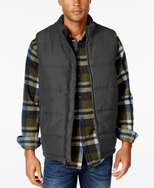 Weatherproof Vintage Men's Big and Tall Puffer Vest, Classic Fit - Gray 2XB