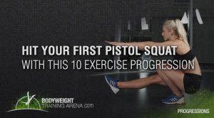 pistol squat progression