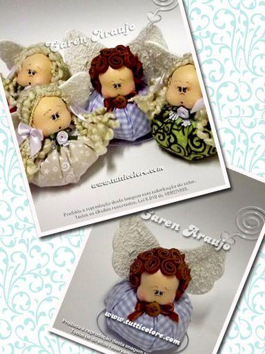 Tutti Colore by Caren Araujo: Anjinhos Perfumados - Lembrancinha Nascimento ou Batizado