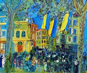 L'orchestre à Arles, Raoul Dufy -   Expressionist Painters