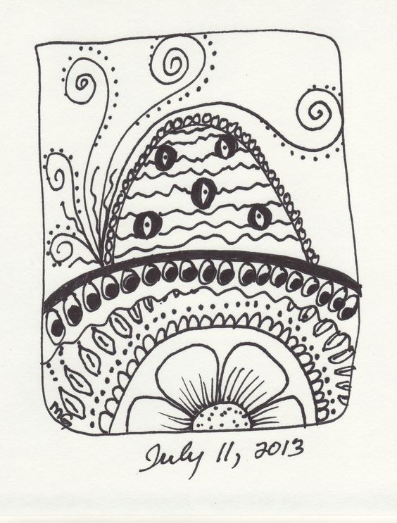 My Zentangle from July 2013.
