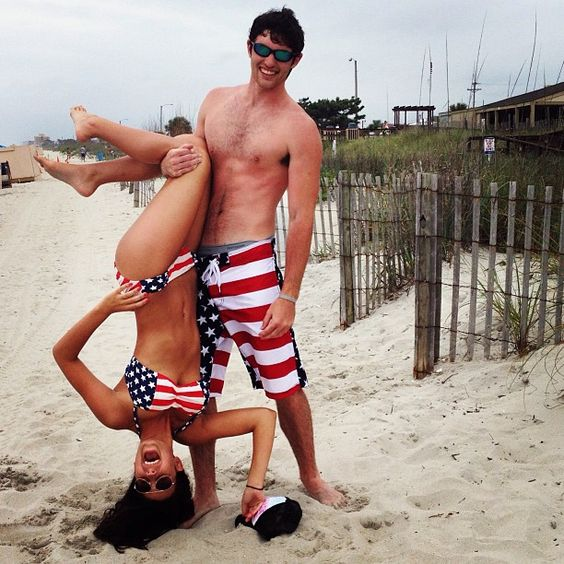 Matching 'Merica Couple; Couple Photography | AWE