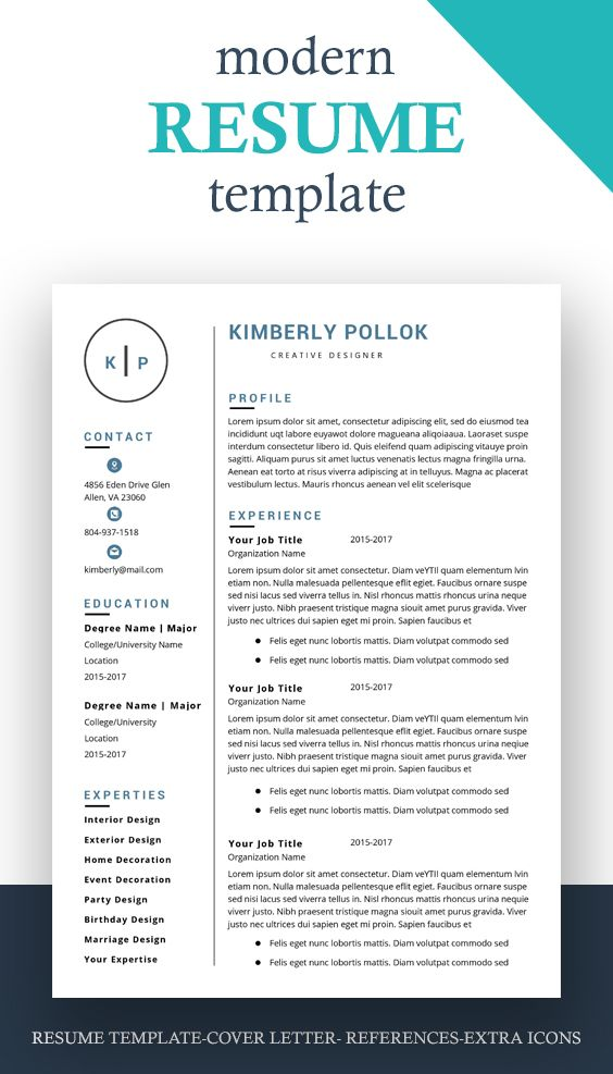 Resume Template Professional Resume Template Instant Etsy Resume Template Word Simple Resume Template Resume Template Free