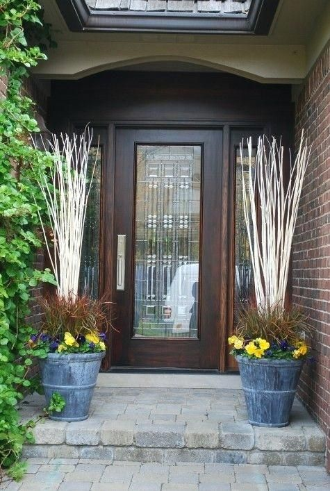 Captivating Outside Front Door Entrance Decorating Ideas Photos