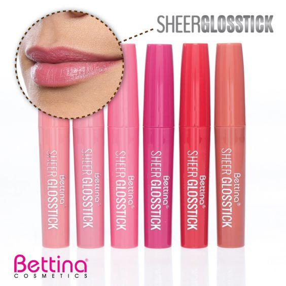 """Para cuando quieres ese """"look"""" natural en tus labios: #Bettina Sheer Glosstick. ¡Un labial con una terminación suave y delicada que te encantará! #Lipstick #GlossLips"""