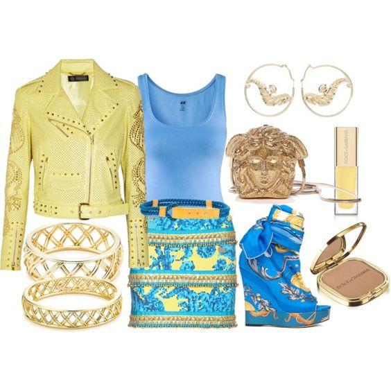 Blau i groc, created by nuria-pellisa-salvado on Polyvore