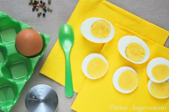Huevos duros - Pienso...luego cocino