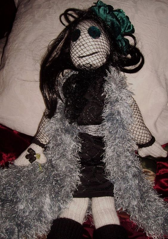 Uniquehand knitted Goth Dolly Limited edition by VVSUK on Etsy, £40.00