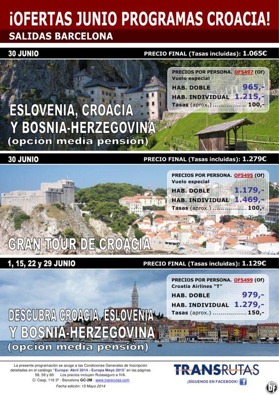CROACIA ¡Ofertas Junio desde Barcelona! 8 días desde 1.065€ ultimo minuto - http://zocotours.com/croacia-ofertas-junio-desde-barcelona-8-dias-desde-1-065e-ultimo-minuto/