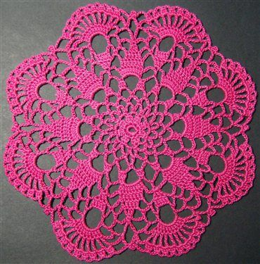 Crochet Doily Patterns Free For Beginners : Easy Doily Patterns for Beginners Crochet Petite Spiral ...