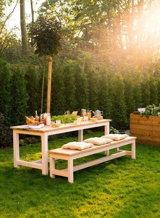 Dieser Diy Gartentisch Ladt Durch Eine Konfigurierbare Lange Bis