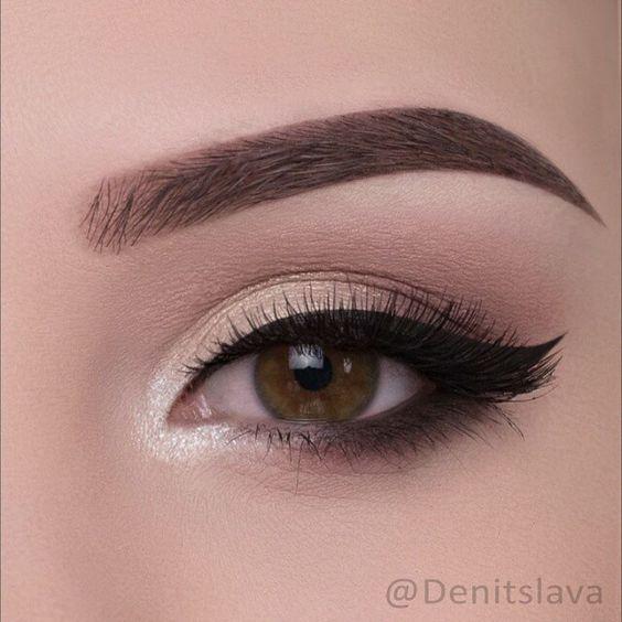 Natural Smokey Eye Look   (Pic: @denitslava) ♡♥♡♥♡♥
