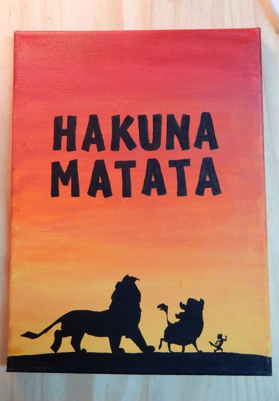 Hakuna Matata Lion King silhouette  Handmade by Store94Crafts