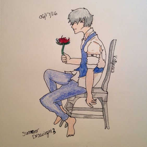 06/17/16: +Kaneki Ken: Here is your Summer Drawing! Sorry that it took me a bit >-<