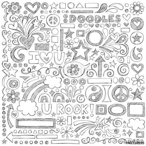 Vetor: Sketchy Notebook Doodles Vector Design Elements Illustration