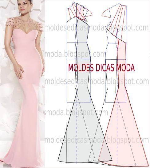MOLDE DE VESTIDO-166