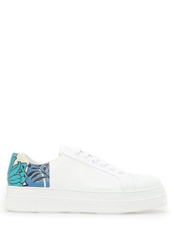 Prada Beyaz Kadin Calf Beyaz Deri Kadin Sneaker 390775 Beymen Sneaker Prada Kadin