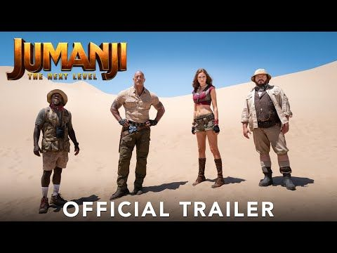 Jumanji The Next Level Official Trailer Youtube Trailer Oficial Dwayne Johnson Filmes De Acao