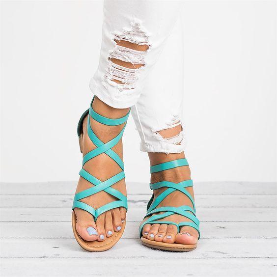 Colorful Gladiator Sandals