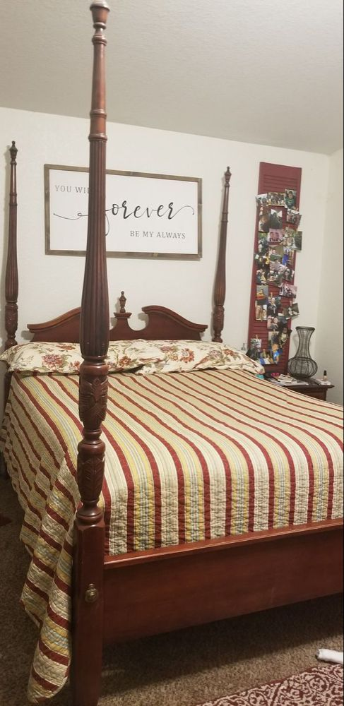 Queen Size 4 Poster Bed Frame For Sale In Lancaster Ca Bed