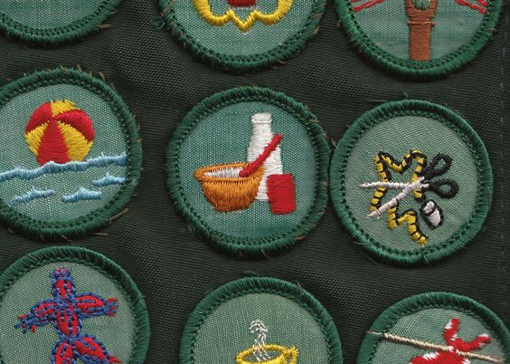 girl scout badges: