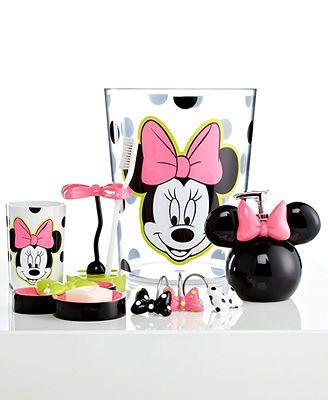 Disney Bath Accessories, Neon Minnie Shower Curtain Hooks