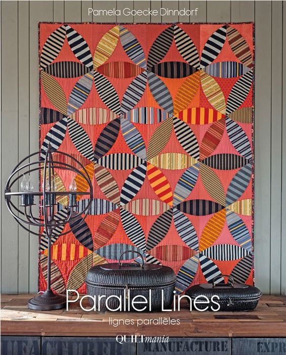 Learn about Pamela Goeke Dinndorf's beautiful art to play with color and stripes  - showcased by 12 projects in her book Parallel Lines.