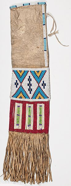 Sioux Beaded Hide Tobacco Bag