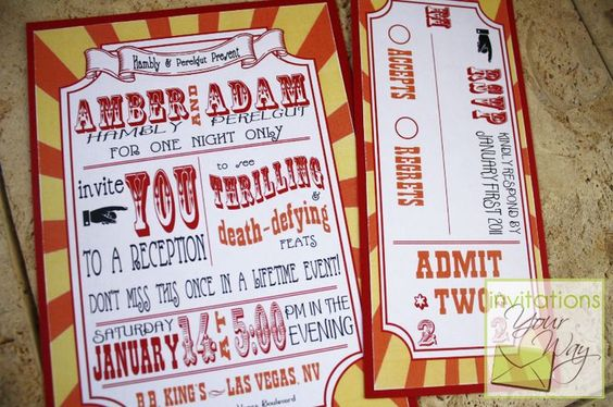 Nice Carnival Themed Wedding Invitations With Carnival Themed Wedding Invitation In Wedding Invitations