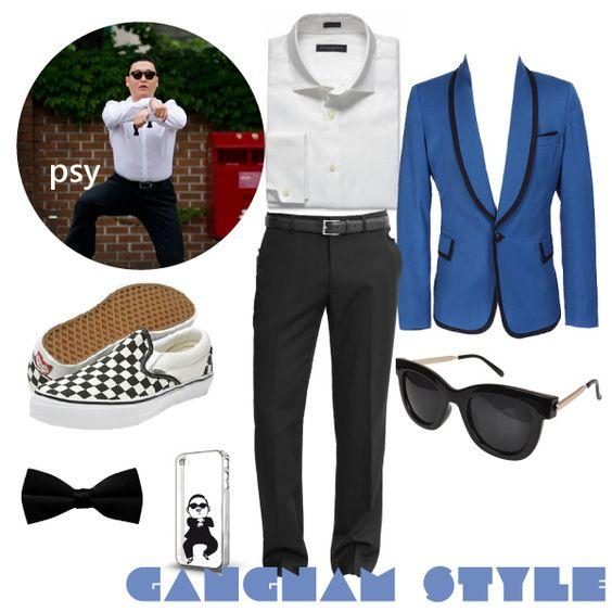 Easy DIY Fitness Inspired Halloween Costumes - PSY- Gangnam Style