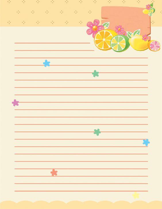 Ladybugs border Free printable kids stationery free printable – Printable Writing Paper with Border