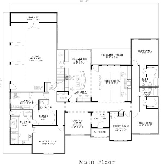 House plans masters and laundry on pinterest for House plans with laundry room attached to master bedroom