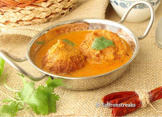Aloo Kofta / Potato kofta curry or dumplings in tangy tomato/ yogurt sauce --- --- #Dumplings #Sauces ----- #Yogurt Inspired
