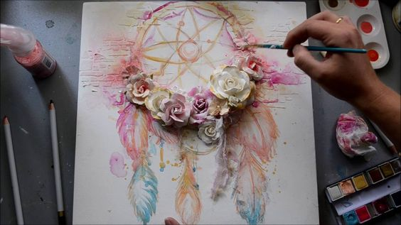 If you LOVE dream catchers and Stacey Young you have got to watch her creative process!!!! AMAZING talent that girl has>>>Prima Marketing Dream Catcher Canvas