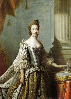 Queen Charlotte of England, faithful (and patient!) wife of (the mad) King George III - and rumored to be Britain's first (partially) Black queen, tracing her lineage to an African branch of the Portuguese royal family. Many cite this painting as proof of her African features, while some historians disagree. The devil is certainly in the (facial) details.