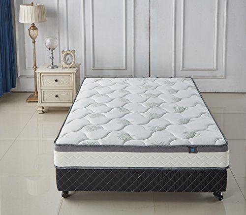 Aloe Vera 9 Inch Memory Foam Spring Twin Mattress Cool Gel Infused Plush Double Layered Twin Mattress Twin Mattress Wall Bed