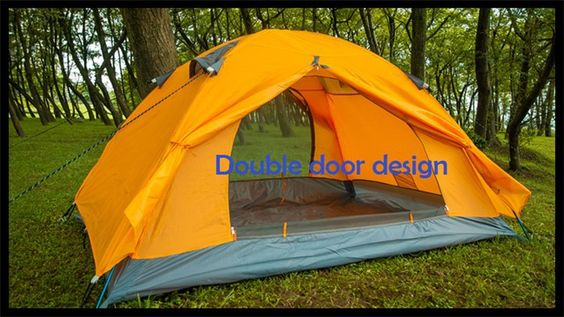 Good quality double layer 2 person 4 season outdoor camping tent ultralight ice fishing tent winter tent gazebo sun shelter. >>> Check out this great image…