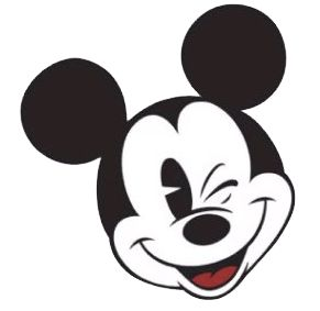 mickey mouse clipart | Black & White Mickey Clipart