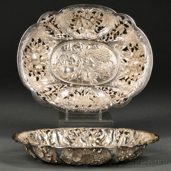 E.F. Caldwell Sterling Silver Fruit Bowls