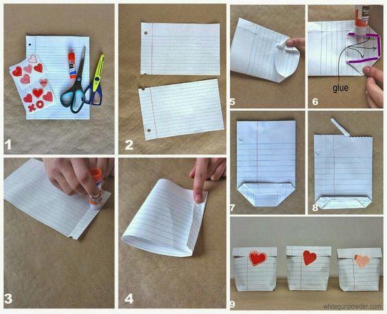 Lembrancinha de aniversário com folha de caderno!