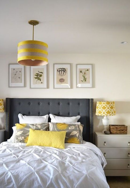 21 Grey And Yellow Bedroom Designs To Amaze You Grey Bedroom