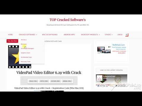 VideoPad Video Editor 6 29 with Crack + Registration Code