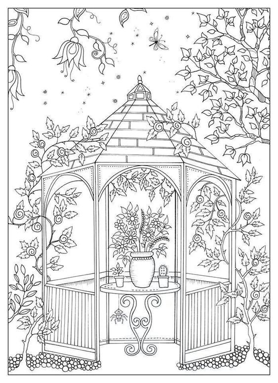 secret garden prieeltje | coloring pages | Pinterest ...