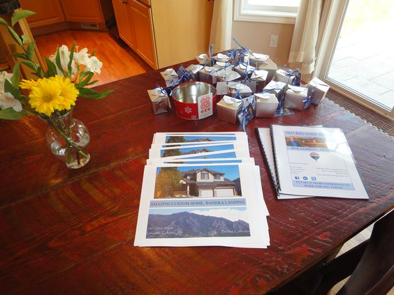 This is from my most recent Open House - goodies, info, seller books. www.BoulderListingExpert.com